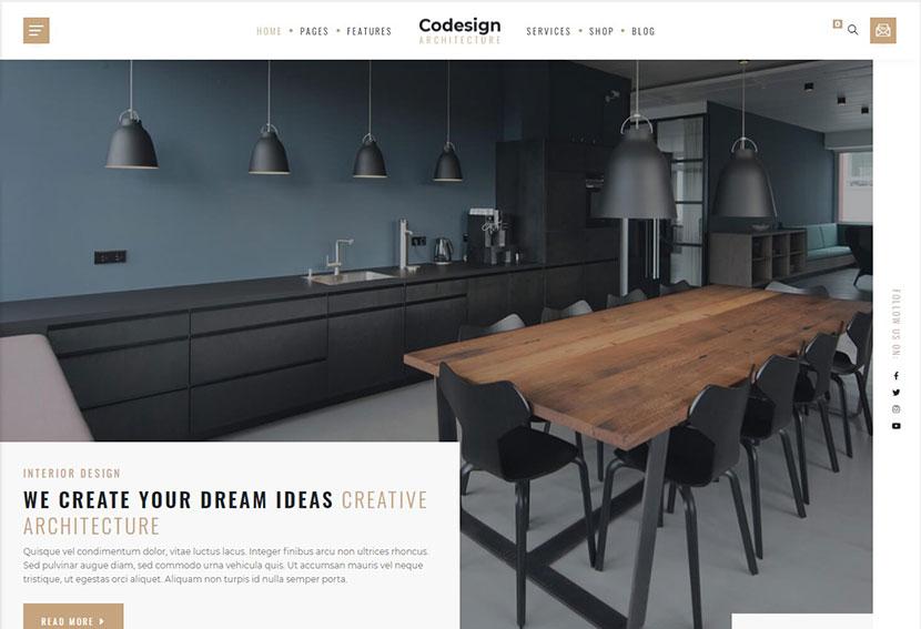 CoDesign Architect & Interior WordPress Theme