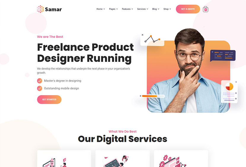 Samar Creative Agency WordPress Theme