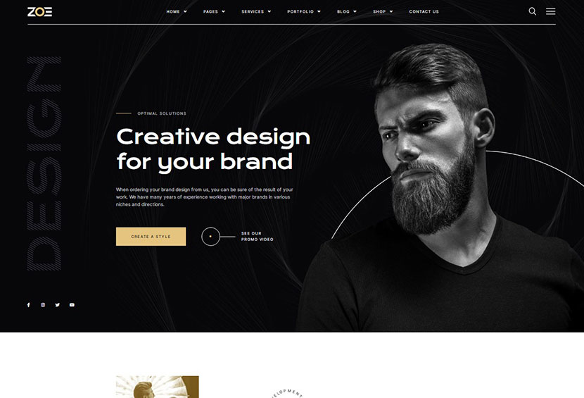 ZOE Creative Agency WordPress Theme