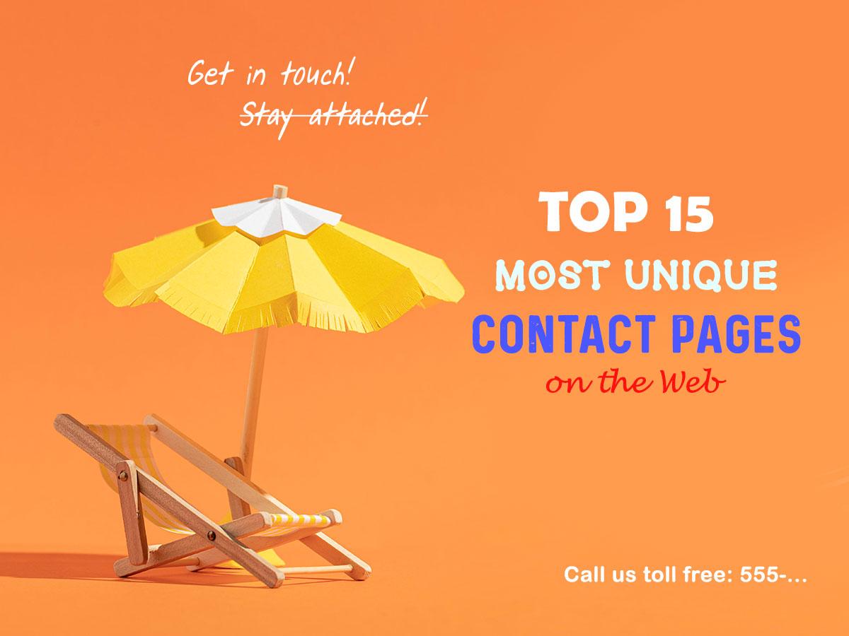 most unique contact pages
